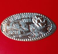 REMEMBER ME BOB HAT & ROSE ELONGATED PRESSED PENNY COIN