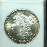 1885-CC CARSON CITY MORGAN SILVER DOLLAR - ANACS MINT STATE 65  -  VAM 2
