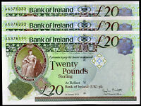 NEW 2013 BANK OF IRELAND BELFAST BANKNOTES 20 REAL LOCAL PAPER CURRENCY
