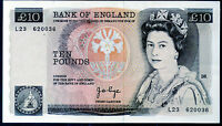 REAL BANK OF ENGLAND 10 TEN POUND BANKNOTES 1975 1980 1984 1987 1988 SERIES D