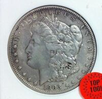 1903-S MORGAN SILVER DOLLAR  ANACS VF 30 VAM 2 SMALL S TOP 100