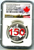 2017 CANADA $1 SILVER DOLLAR NGC PF70 UCAM RED 150TH ANNIVER
