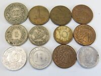 TWELVE ASSORTED SMALL FOREIGN COINS LOT EG77