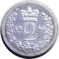 ELF  GREAT BRITAIN 2 PENCE 1846 SILVER  VICTORIA   MAUNDY