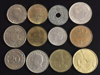 TWELVE ASSORTED FOREIGN COINS LOT SD26