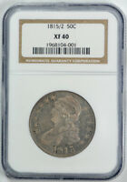 1815/2 CAPPED BUST HALF DOLLAR NGC XF 40 EXTRA FINE TOUGH DATE