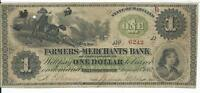 MARYLAND FARMERS MERCHANTS BANK AT GREENSBOROUGH $1 WITH HORSES 1862 G2C 6242
