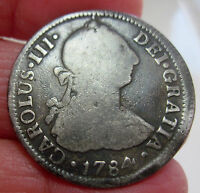 1784 F.M  MEXICO  2 REALES  SILVER         VARIETY