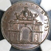 1790S NGC MS 64  BISHOPSGATE  CONDER 1/2 PENNY SKIDMORE'S DH 650  17022402C