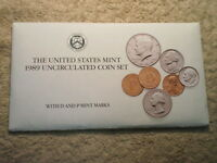 1989 U.S. UNCIRCULATED MINT SET/ SET IN AVERAGE CONDITION