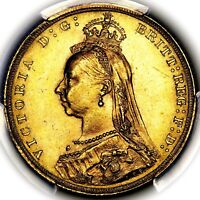 1889 QUEEN VICTORIA GREAT BRITAIN LONDON MINT GOLD SOVEREIGN