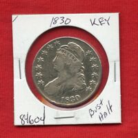 1830 BUST SILVER HALF DOLLAR 84604 $ NICE COIN $ US MINT  KEY DATE ESTATE