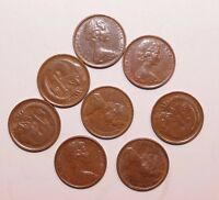 1968 1 CENT AUSTRALIA LOW MINT A LOT OF 8 VERY HIGH VALUE VE
