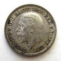 GREAT BRITAIN UK COINS THREEPENCE 1932 GEORGE V SILVER 0.500