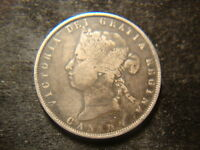 1872 H F VF  CANADA FIFTY  CENTS DECENT COIN