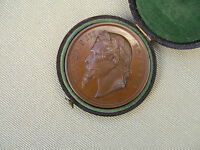 1865  LARGE  BRONZE  'NAPOLEON III'  ZOOLOGIQUE MEDAL. 64GRMS.. IN ORIGINAL CASE