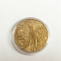 2018 NEW THE DOG COMMEMORATIVE COLLECTION COIN GOLD PLATED LUCKY WISH GIFT