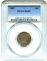 1807 10C PCGS POOR-01 - POPULAR, AFFORDABLE EARLY DIME - BUST DIME
