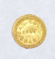 1884 CAL GOLD CHARM ARMS OF CALIFORNIA UNC