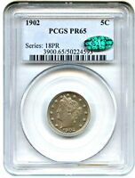 1902 5C PCGS/CAC PR 65 - GEM PROOF LIBERTY NICKEL - LIBERTY V NICKEL