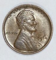 1914 LINCOLN/WHEAT EARS REVERSE CENT ALMOST UNC 1-CENT