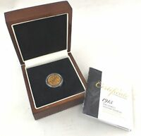 ANTIQUE 4.04G HALF GOLD SOVEREIGN COIN DATED 1915 KING GEORG