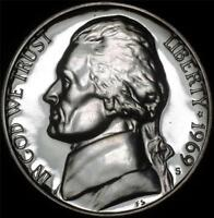 1969 S GEM PROOF JEFFERSON NICKEL   ALWAYS BEST VALUE @ CHERRYPICKERCOINS