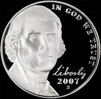 2007 S GEM PROOF JEFFERSON NICKEL   ALWAYS BEST VALUE @ CHERRYPICKERCOINS