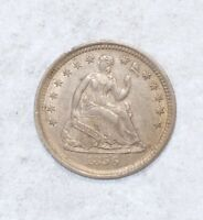 1856 LIBERTY SEATED HALF DIME EXTRA FINE  SILVER 5-CENTS