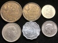 SIX ASSORTED FOREIGN COINS LOT CL87