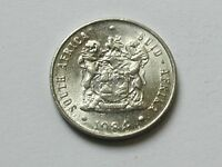 SOUTH AFRICA 1984 10 CENTS COIN AU   LUSTRE WITH ALOE PLANT & COAT OF ARMS