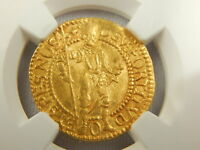 NGC GRADED 1593 NETHERLAND DUCAT GOLD COIN W. FRIESLAND FR 291 GOLD COIN AU53