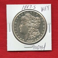 1887 S MORGAN SILVER DOLLAR 90684 HIGH GRADE COIN US MINT  KEY DATE ESTATE