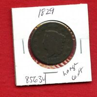 1829 CORONET HEAD LARGE CENT PENNY 1C 85634 $  US MINT  KEY DATE ESTATE