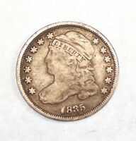 1835 CAPPED BUST DIME  GOOD SILVER 10-CENTS