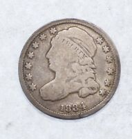 BARGAIN 1834 CAPPED BUST DIME  GOOD SILVER 10-CENTS