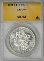 1901-S  ANACS  MINT STATE 62    TOUGH DATE    LOOKS BETTER THAN A 62    6003324