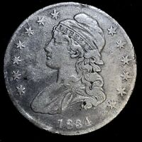 1834 50C SMALL DATE SMALL LETTERS CAPPED BUST HALF DOLLAR A-281