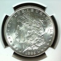 1885 VAM 1A2 NGC MINT STATE 63 MORGAN SILVER DOLLAR - GENE L. HENRY LEGACY COLLECTION