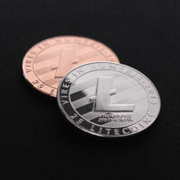 SILVER PLATED COMMEMORATIVE LITECOIN COLLECTIBLE COPPER IRON MINER LTC COIN
