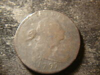 1797 VG  GRIPPED EDGE DRAPED BUST LARGE CENT