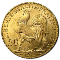 20 FRANCS FRANCE GOLD COIN   ROOSTER  BU