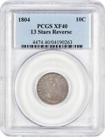 1804 10C PCGS EXTRA FINE 40 13 STARS REVERSE POPULAR EARLY DIME - BUST DIME