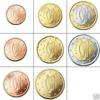 SET OF IRISH EURO COINS   GENUINE CURRENCY   IRELAND