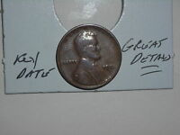 WHEAT CENT 1924D LINCOLN CENT 1924-D  DETAILS KEY DATE SHIPS FREE