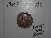 WHEAT CENT 1920S GREAT HIGH GRADE DETAILS 1920-S LOT 3 LINCOLN CENT FREE S/H