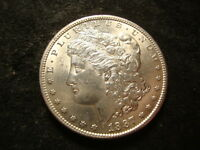 1887-S BU LUSTEROUS MORGAN DOLLAR  COIN FULL DEVICES PHX