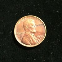 1935 S SAN FRANSISCO LINCOLN WHEAT CENT PENNY PLANCHET ERROR OBVERSE