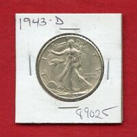 1943 D WALKING LIBERTY SILVER HALF DOLLAR 89025 HIGH GRADE US MINT  ESTATE