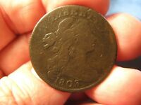 1803 DRAPED BUST LARGE CENT V.G. S-245  SHIPS FREE